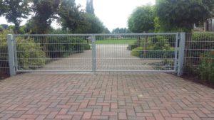 Goossens Lasbedrijf dubbele poort 4 meter breed